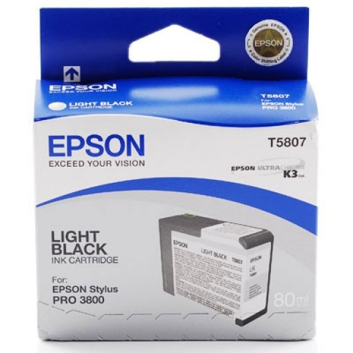 Epson Stylus Pro 3800, 3880 Ink Cartridge - Light Black Genuine (T5807)