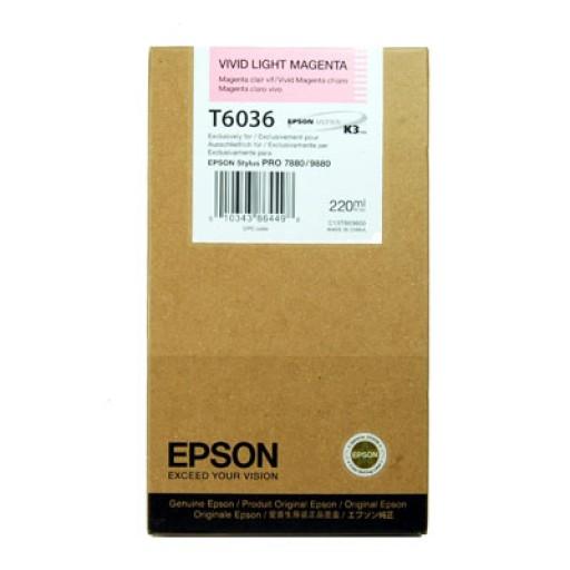Epson T6036 Ink Cartridge - HC Vivid Light Magenta Genuine