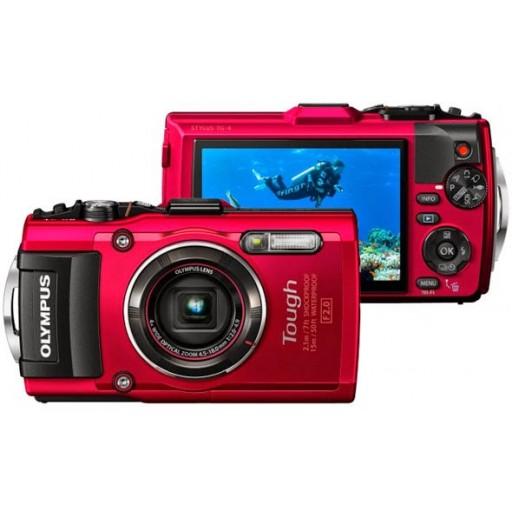 Olympus, Stylus Tough TG-4, Waterproof Digital Camera- Red