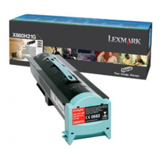 Lexmark X860H21G Toner Cartridge - HC Black, X860, X862, X864- Genuine