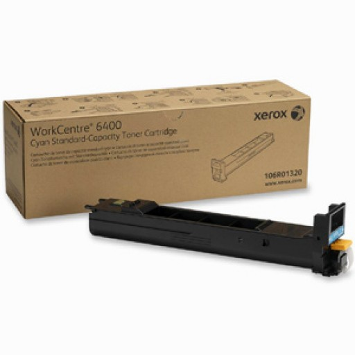 Xerox 106R01320 Toner Cartridge, WorkCentre 6400 - Cyan Genuine