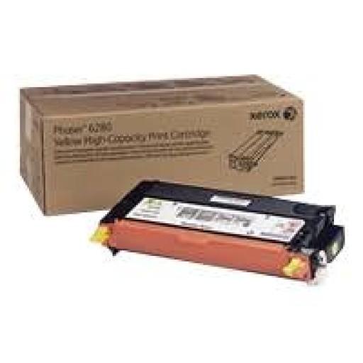 Xerox 106R01406 Metered Toner Cartridge Yellow, Phaser 6280 - Genuine
