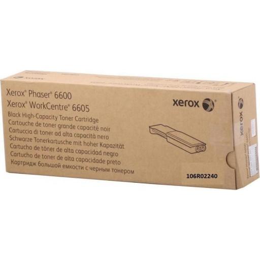 Xerox 106R02240, Toner Cartridge Metered Black, Phaser 6600, WorkCentre 6605- Original