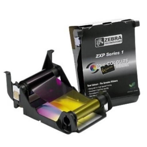 Zebra 800011-140, ZXP Series 1 Load-N-Go Ribbon, Y/M/C/K/O