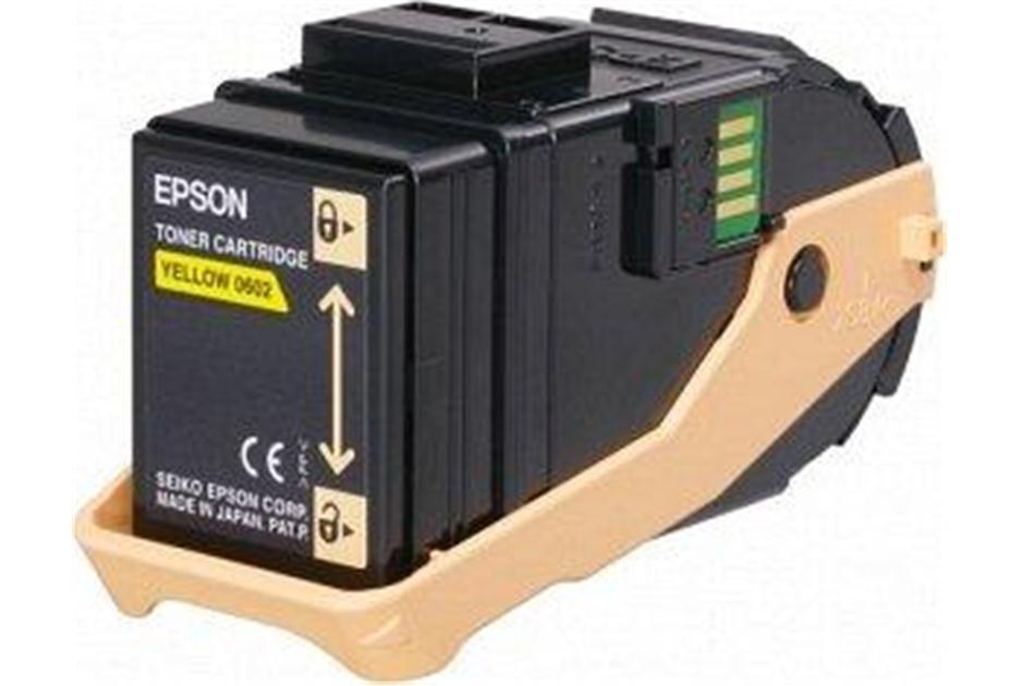 Epson C13S050602, Toner Cartridge Yellow, AcuLaser C9300- Original