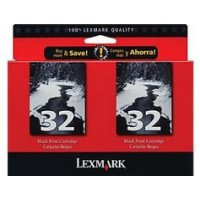 Lexmark 80D2956 No.32 Ink Cartridge - Black Multipack Genuine