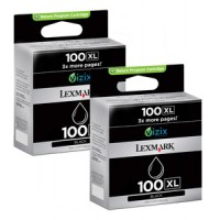 Lexmark 14N1068E No.100XL Ink Cartridge - HC Black Multipack Genuine