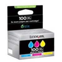 Lexmark 14N0850 No.100XL Ink Cartridge - HC Tri-Colour Multipack Genuine