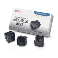 Xerox 108R00668,  Solid Ink Sticks- 3 x Black, Phaser 8500, 8550- Original