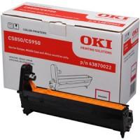 Oki 43870022, Image Drum Unit- Magenta, C5850, C5950, MC560- Original