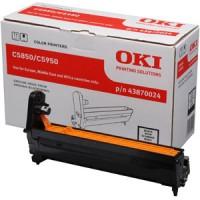 Oki 43870024, Image Drum Unit- Black, C5850, C5950, MC560- Original