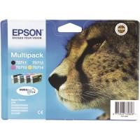 Epson T0715, Ink Cartridge 4 Colour Multipack, Stylus DX4000, DX4050, DX4400, DX6000- Original