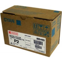 Ricoh 888238 Toner Cartridge HC Cyan, Type P2, 2228C, 2232C, 2238C - Genuine