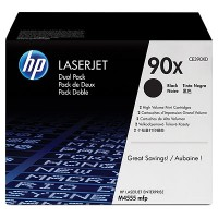 HP CE390XD, Toner Cartridge Black Twin Pack, M4555, M4555f, M4555fskm- Genuine