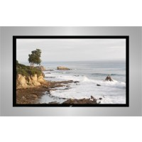 Elite R100WV1-BLACK EZ Frame Fixed Frame Projection Screen