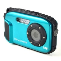 "16MP, 2.7"" Waterproof Digital Video Camera / Underwater DV Camcorder- Blue and Black"
