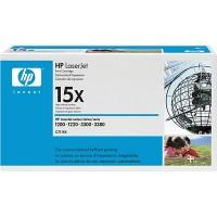 HP 15X 1000, 1005, 1200, 1220, 3080, 3320, 3330, 3380 Toner Cartridge - HC Black Genuine (C7115X)