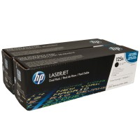 HP CB540AD, Toner Cartridge Black Dual Pack, CM1312, CP1215, 1515, 1518- Genuine