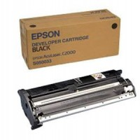 Epson C13S050033, Toner Cartridge Black, C1000, C2000- Original