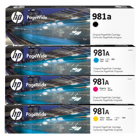 HP 981A, Ink Cartridge Multipack, Pagewide Colour 556, 586- Original