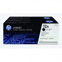 HP Q2612AD, Toner Cartridge Black, Dual Pack, Laserjet 1010, 1012, 1015, 1018- Original