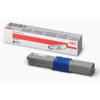OKI 44469722, Toner Cartridge HC Yellow, C510, C511, C530, C531- Genuine