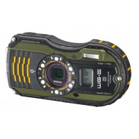 Pentax, WG-3, GPS, Digital Camera- Green