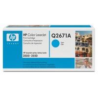 HP Q2671A, Toner Cartridge Cyan, Color LaserJet 3500, 3550, 3700- Original