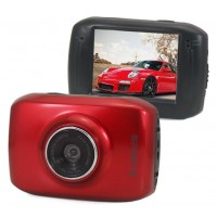 Pro HD Helmet Sport DV 1280 x 720,  Digital Video Waterproof Camera/ Camcorder- Red