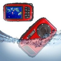 "16MP, 2.7"" Waterproof Digital Video Camera / Underwater DV Camcorder- Red and Black"