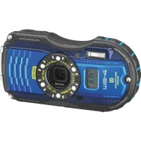 Ricoh WG-4, GPS Waterproof Digital Camera- Blue
