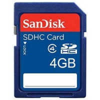 Sandisk 4GB SDHC Card - Class 4