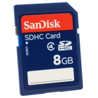 Sandisk 8GB SDHC Card - Class 2