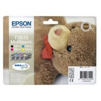 Epson T0615 Ink Cartridge - 4 Colour Multipack, Stylus D3850, D4200, DX4800, DX4850- Original