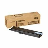 Kyocera Mita TK-800Y, Toner Cartridge- Yellow, FS C8008N- Genuine