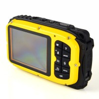 "16MP, 2.7"" Waterproof Digital Video Camera / Underwater DV Camcorder- Yellow and Black"
